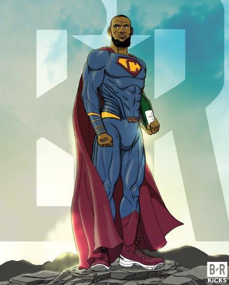 NBA球星化身成超级英雄 詹姆斯化身超人